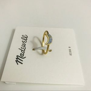Madewell Crescent Moon Ring NWT Size 8
